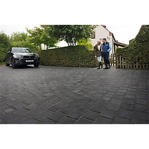 Marshalls Drivesys Riven Driveway Block Paving Pack Mixed Size - Basalt 4.51 m2