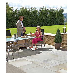 Marshalls Sawn Versuro Smooth Antique Silver Paving Slab 845 x 140 x 22 mm - 11.83m2 pack