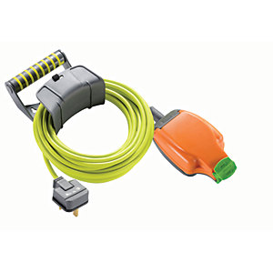 Masterplug Pro-XT Weatherproof Trailing Socket High Visibility Cable - 10m 13A