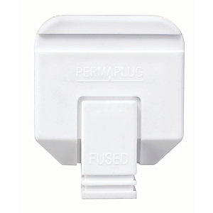 Image of Masterplug 13A Heavy Duty Plug - White