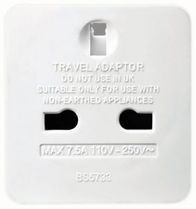 1 Gang Travel Adaptor UK TO US Travel Plug Socket Adapter for Europe USA PAK