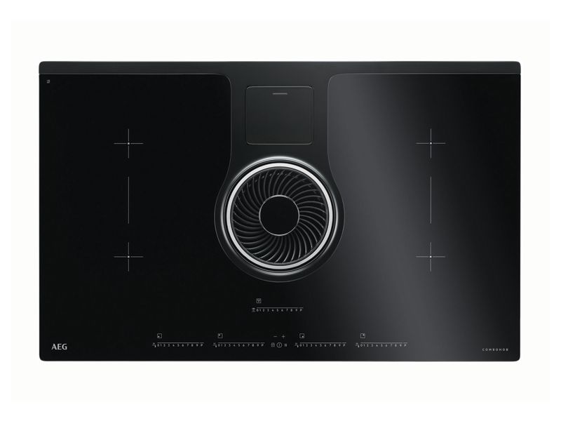 AEG 83cm Induction Hob & Hood Black