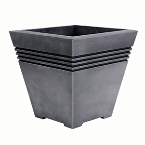 Image of Sankey Milano Pewter Plant Pot Small -330mm