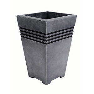 Image of Sankey Milano Pewter Plant Pot Tall - 450mm