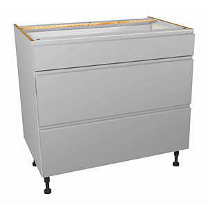 Wickes Madison Grey Gloss Handleless Drawer Unit - 900mm (Part 1 of 2)