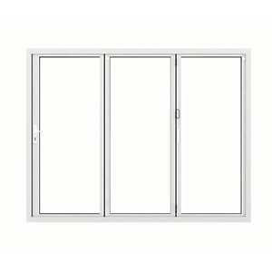 Image of Jci Aluminium Bi-fold Door Set White Right Opening 2090 x 2690mm