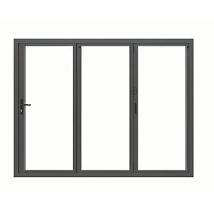 Image of Jci Aluminium Bi-fold Door Set Grey Left Opening 2090 x 2390mm