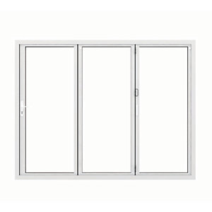 Image of Jci Aluminium Bi-fold Door Set White Left Opening 2090 x 2090mm