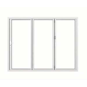 Image of Jci Aluminium Bi-fold Door Set White Left Opening 2090 x 2690mm