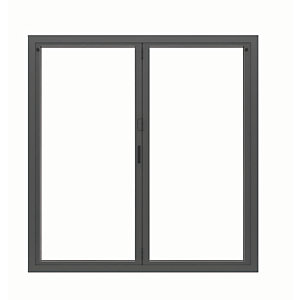 Image of Jci Aluminium Bi-fold Door Set Grey Right Opening 2090 x 1790mm