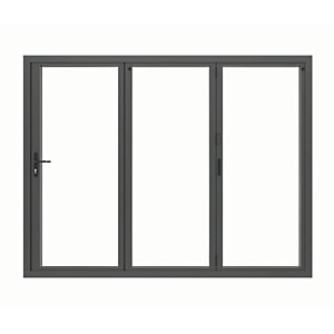 Image of Jci Aluminium Bi-fold Door Set Grey Right Opening 2090 x 2390mm