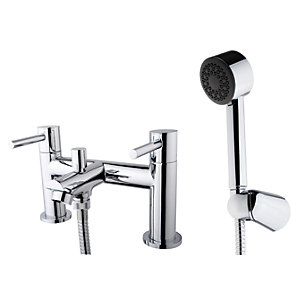 Wickes Mirang Bath Shower Mixer Tap - Chrome