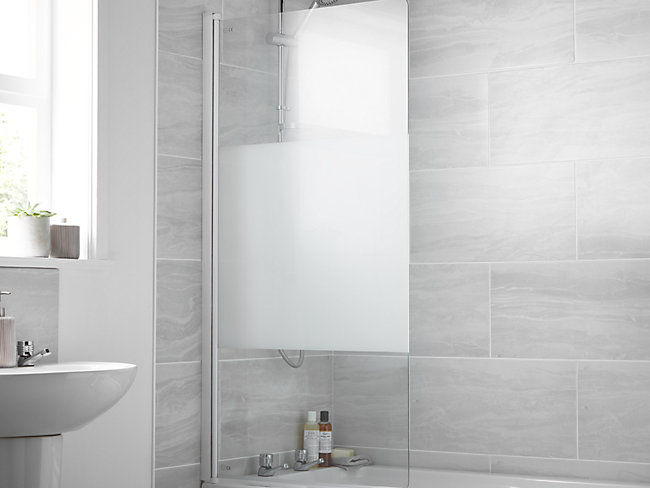 Half Frame Bath Screen With Modesty Panel