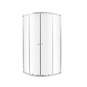 Wickes 800 x 800mm - Quadrant Sliding Shower Enclosure - Chrome