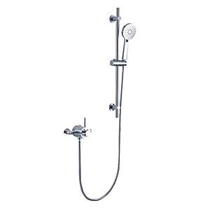 Wickes Style Thermostatic Mixer Shower Kit - Chrome Best Price, Cheapest Prices