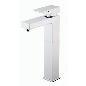Wickes Kubic Tall Basin Mixer Tap - Chrome