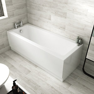 Universal End Bath Panel - White 800mm
