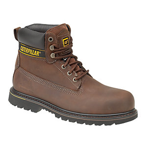 Image of Caterpillar CAT Holton SB Safety Boot - Brown Size 11