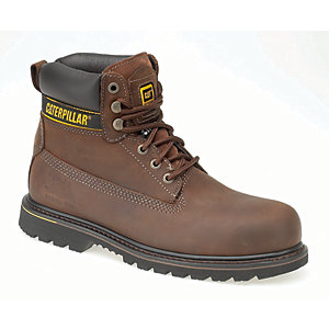 Image of Caterpillar CAT Holton SB Safety Boot - Brown Size 10