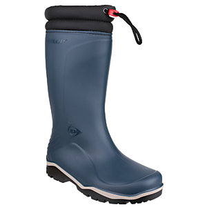 Image of Dunlop Blizzard Winter Safety Wellington Boot - Blue/Black Size 11