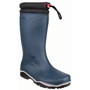 Image of Dunlop Blizzard Winter Safety Wellington Boot - Blue/Black Size 5