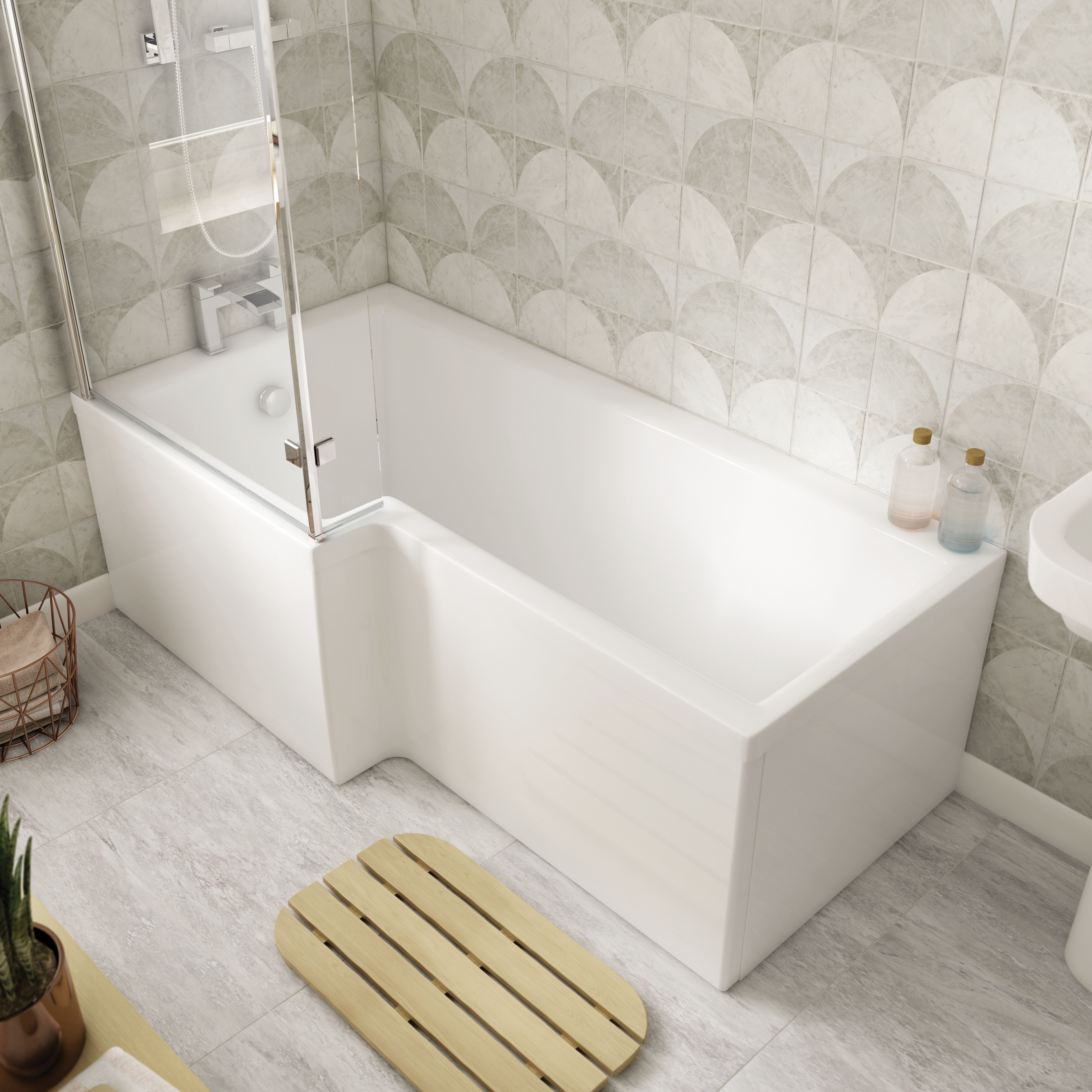 Wickes L Shaped Front Bath Panel 1500 Mm | Wickes.co.uk