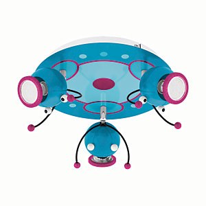 Image of Eglo Childrens 3 Lamp Bug Spot Light Round - 60W GU10