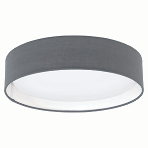 Image of Eglo Pasteri LED Matt Grey Ceiling Light - 11W
