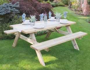 bench outdoor creations picnic products tables table