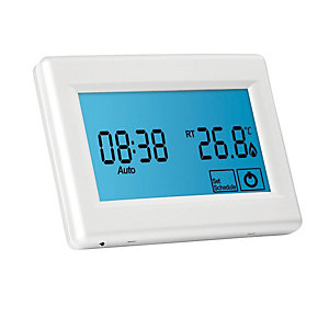 Prowarm Protouch Touchscreen Programmable Digital Room Thermostat - White