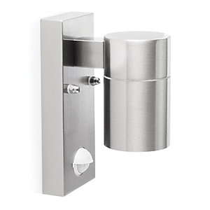 Image of Ranex Polished Chrome Outdoor Wall Light with PIR - 28W GU10