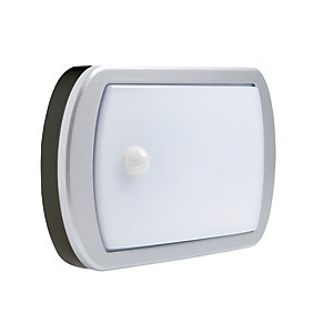 Image of Briticent Ispot Lozenge LED Black PIR Sensor Floodlight - 10W