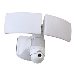 Image of Lutec LED Security PIR Floodlight with Wireless CCTV
