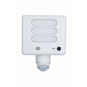 Lutec LED Security Floodlight with PIR Sensor and Wireless CCTV - 25W
