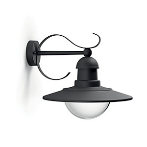 Philips Topiary Wall Lantern Black - 60W