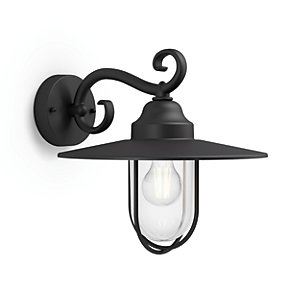 Philips Outdoor Black Pasture Wall Lantern - 60W