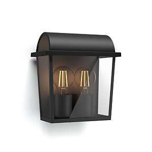 Philips Outdoor Black Harvest Wall Lantern - 42W