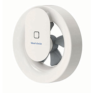 Vent-Axia Svara Lo Carbon Bathroom Fan with Bluetooth Control - White 100mm