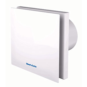 Vent-Axia Silent Bathroom Fan with Timer - White 100mm