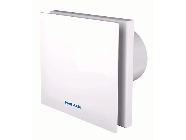 Vent-Axia Silent Bathroom Fan With Timer 100mm
