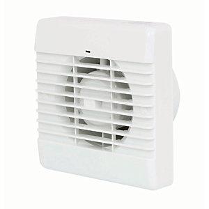 Manrose Bathroom Fan with Pullcord - White 100mm