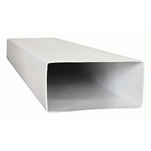 Manrose PVC White Flat Channel Duct - 150 x 70mm x 1m
