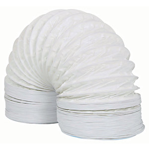 Manrose PVC White Duct - 100mm x 3m