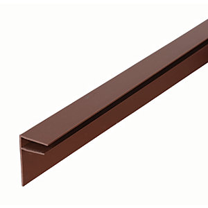 Image of 10mm PVC Side Flashing - Brown 6m