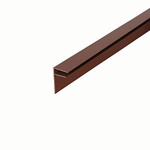 Image of 10mm PVC Side Flashing - Brown 3m