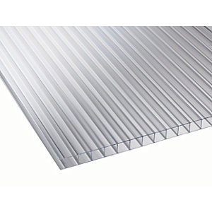 10mm Clear Multiwall Polycarbonate Sheet - 2000 x 700mm