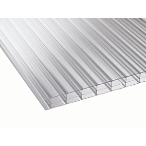 16mm Clear Multiwall Polycarbonate Sheet - 2500 x 1050mm