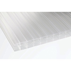 25mm Clear Multiwall Polycarbonate Sheet - 6000 x 800mm