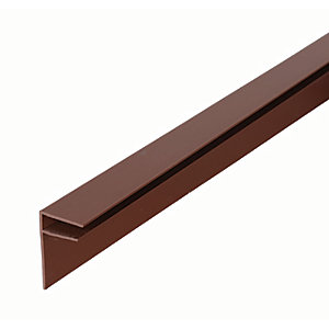 Image of 10mm PVC Side Flashing - Brown 4m