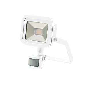 Image of Luceco Guardian Slimline PIR Floodlight IP44 White 600 Lumens 8W